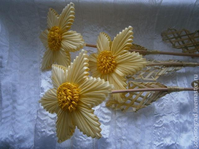 Цветы из соломы