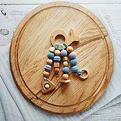 """Работы для детей, handmade. Livemaster - original item Грызунок, прорезыватель """"Кит"""". Handmade."""