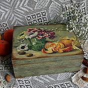 """Для дома и интерьера ручной работы. Ярмарка Мастеров - ручная работа чайная шкатулка """"Натюрморт"""". Handmade."""