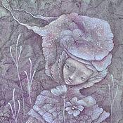 Картины и панно ручной работы. Ярмарка Мастеров - ручная работа Подарок девушке. Lathyrus odoratus. Романтичная картина, фэнтези.. Handmade.