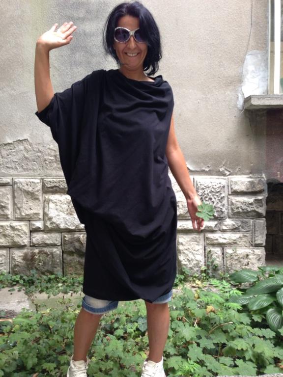 Платья ассиметричные трикотажные