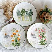 Картины и панно ручной работы. Ярмарка Мастеров - ручная работа Декоративные тарелки на стену в стиле прованс. Handmade.