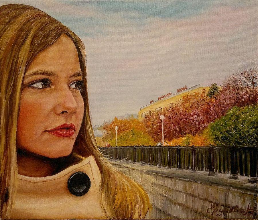 Портрет молодой девушки. Всё будет хорошо! Холст, масло, 35х30 см, Картины, Екатеринбург,  Фото №1