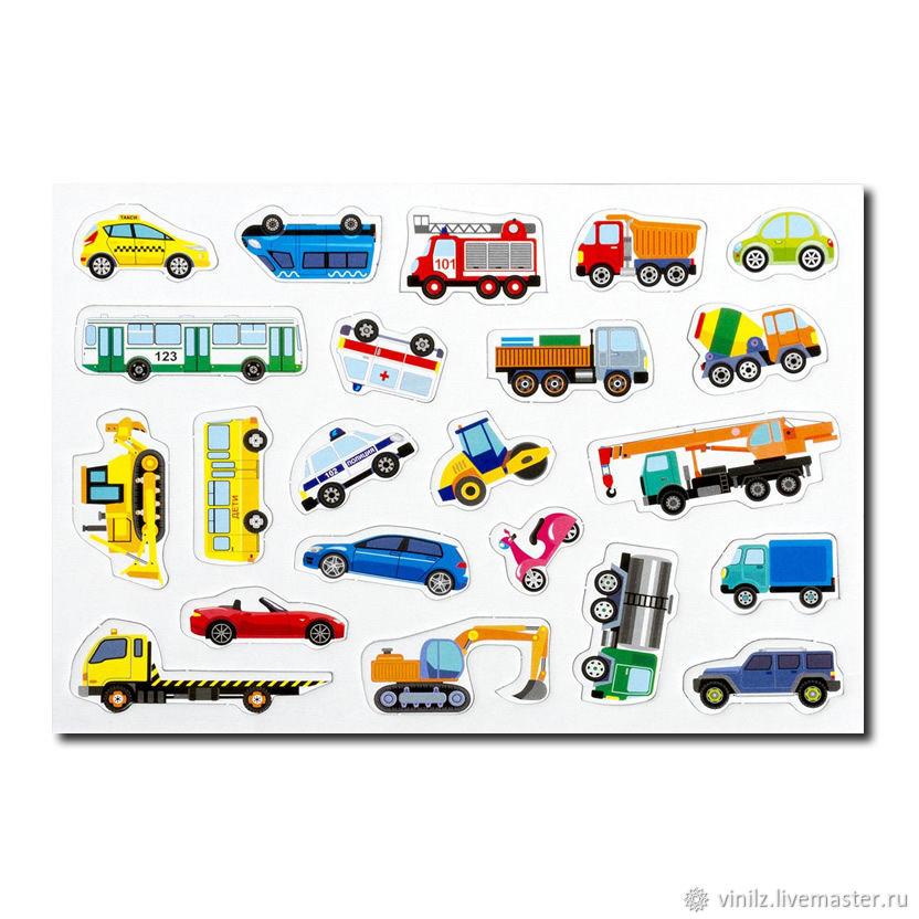 Магнитный автопарк, магниты для магнитной доски, холодильника 22 штуки: