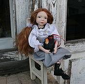 """Куклы и игрушки handmade. Livemaster - original item Artist Doll """"A butterfly on a handbag"""" (la-la-kukla). Handmade."""