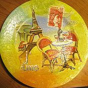 """Посуда ручной работы. Ярмарка Мастеров - ручная работа Тарелка """"Париж"""". Handmade."""