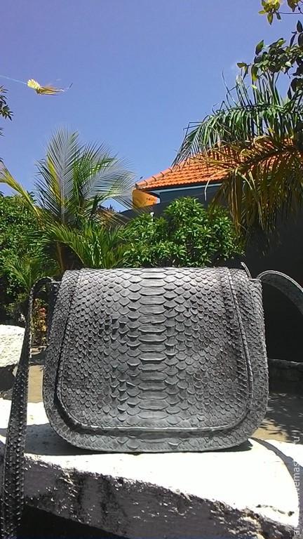 Женские сумки ручной работы. Ярмарка Мастеров - ручная работа. Купить сумка из питона. Handmade. Серый, сумка женская