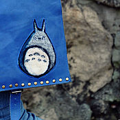 Сумки и аксессуары handmade. Livemaster - original item Bag genuine leather Totoro. Tablet leather. Handmade.