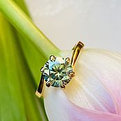 Украшения handmade. Livemaster - original item 16P ring with a diamond