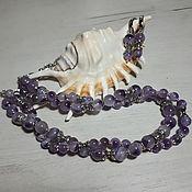 Украшения handmade. Livemaster - original item Viola amethyst necklace and earrings