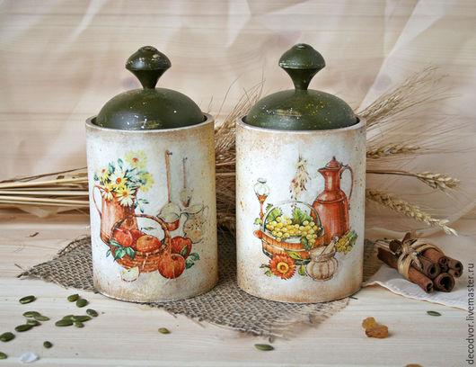 """Кухня ручной работы. Ярмарка Мастеров - ручная работа. Купить Набор банок для сыпучих продуктов """"Вкусные натюрморты"""". Handmade."""