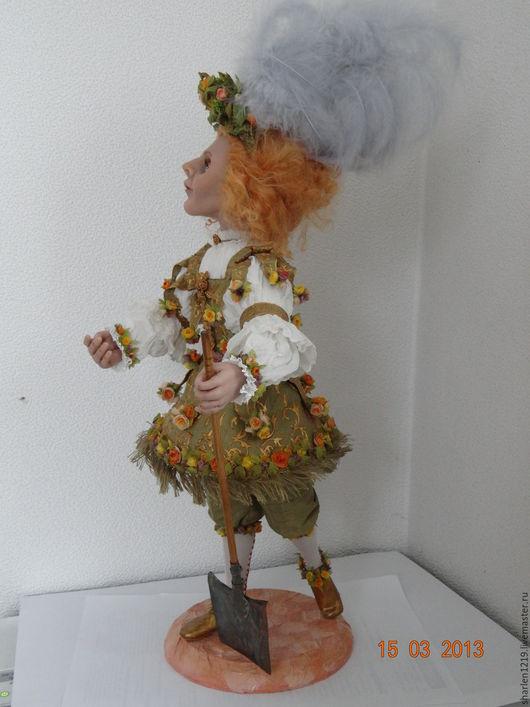 Коллекционные куклы ручной работы. Ярмарка Мастеров - ручная работа. Купить Садовник. Handmade. Оливковый, подарок на любой случай