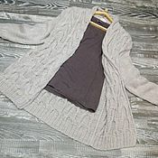 Одежда ручной работы. Ярмарка Мастеров - ручная работа Кардиган косами. Handmade.