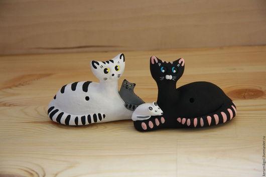 Игрушки животные, ручной работы. Ярмарка Мастеров - ручная работа. Купить Кошки, Котики, котята. Handmade. Комбинированный, глина