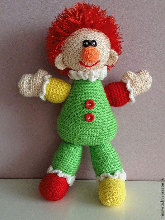 Человечки ручной работы. Ярмарка Мастеров - ручная работа. Купить Вязаный веселый клоун. Handmade. Клоун, игрушка, для малыша, новорожденному