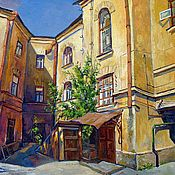 Картины и панно handmade. Livemaster - original item Pictures: Yard on the street.. Handmade.
