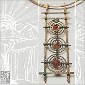 Украшения ручной работы. Ярмарка Мастеров - ручная работа Ожерелье Три Солнца  - Закат. Handmade.