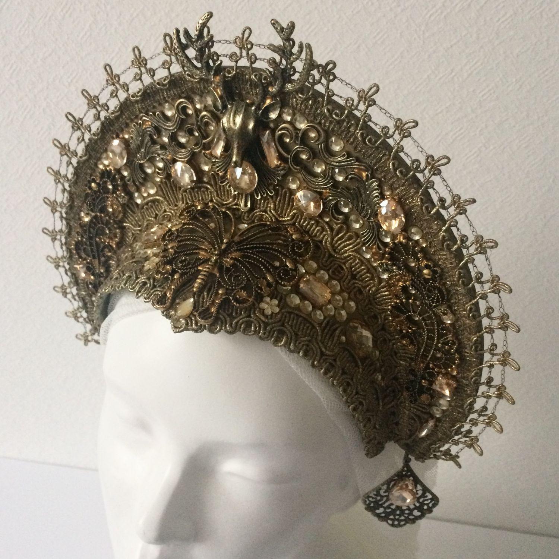 Gold headdress, Subculture hats, St. Petersburg,  Фото №1