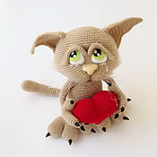 Куклы и игрушки handmade. Livemaster - original item Crochet decorative toy Love cat Basik. Handmade.