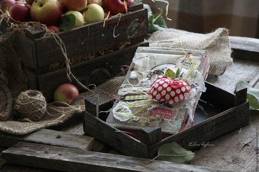"""Кулинарные книги ручной работы. Ярмарка Мастеров - ручная работа. Купить Кулинарная книга """"Время яблок"""". Handmade. Разноцветный, вырубка"""