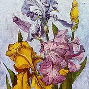 Картины и панно handmade. Livemaster - original item Copy of Irises. Handmade.
