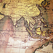 Картины и панно ручной работы. Ярмарка Мастеров - ручная работа Географическая карта мира 1795г. Handmade.