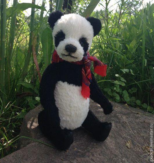 Мишки Тедди ручной работы. Ярмарка Мастеров - ручная работа. Купить Ян.. Handmade. Чёрно-белый, панда, медведь