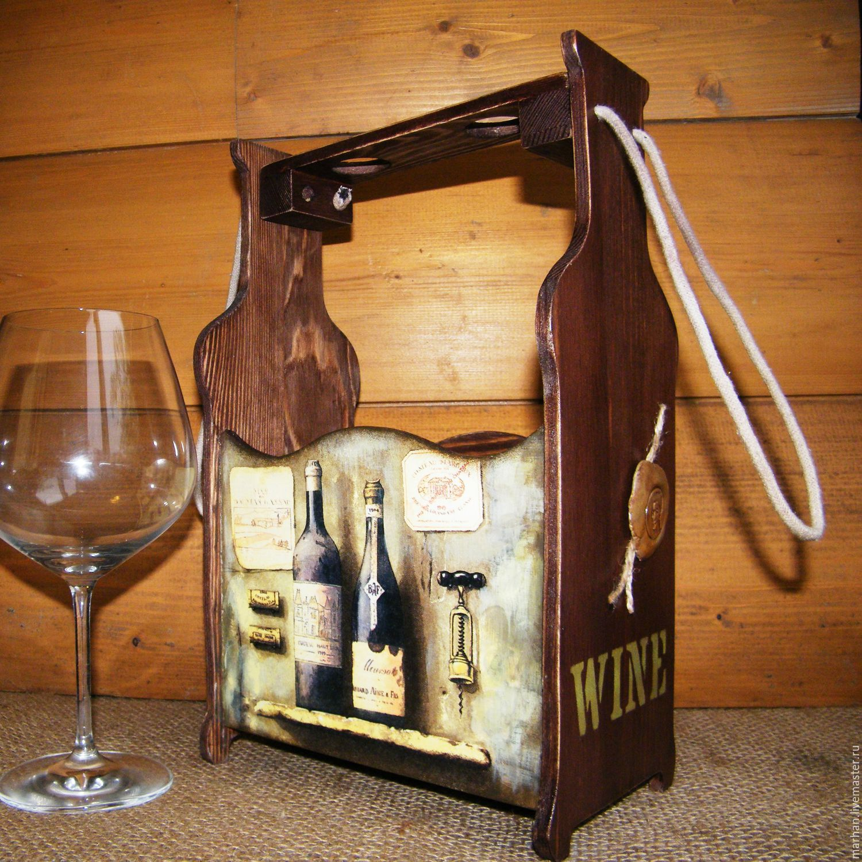 Декупаж ящика для вина