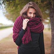 Аксессуары handmade. Livemaster - original item The oversized scarf cherry. Handmade.