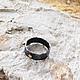 Кольца ручной работы. Кольцо из серебра и золота. Зачарованная (Александра). Ярмарка Мастеров. Простое кольцо, состаренное серебро