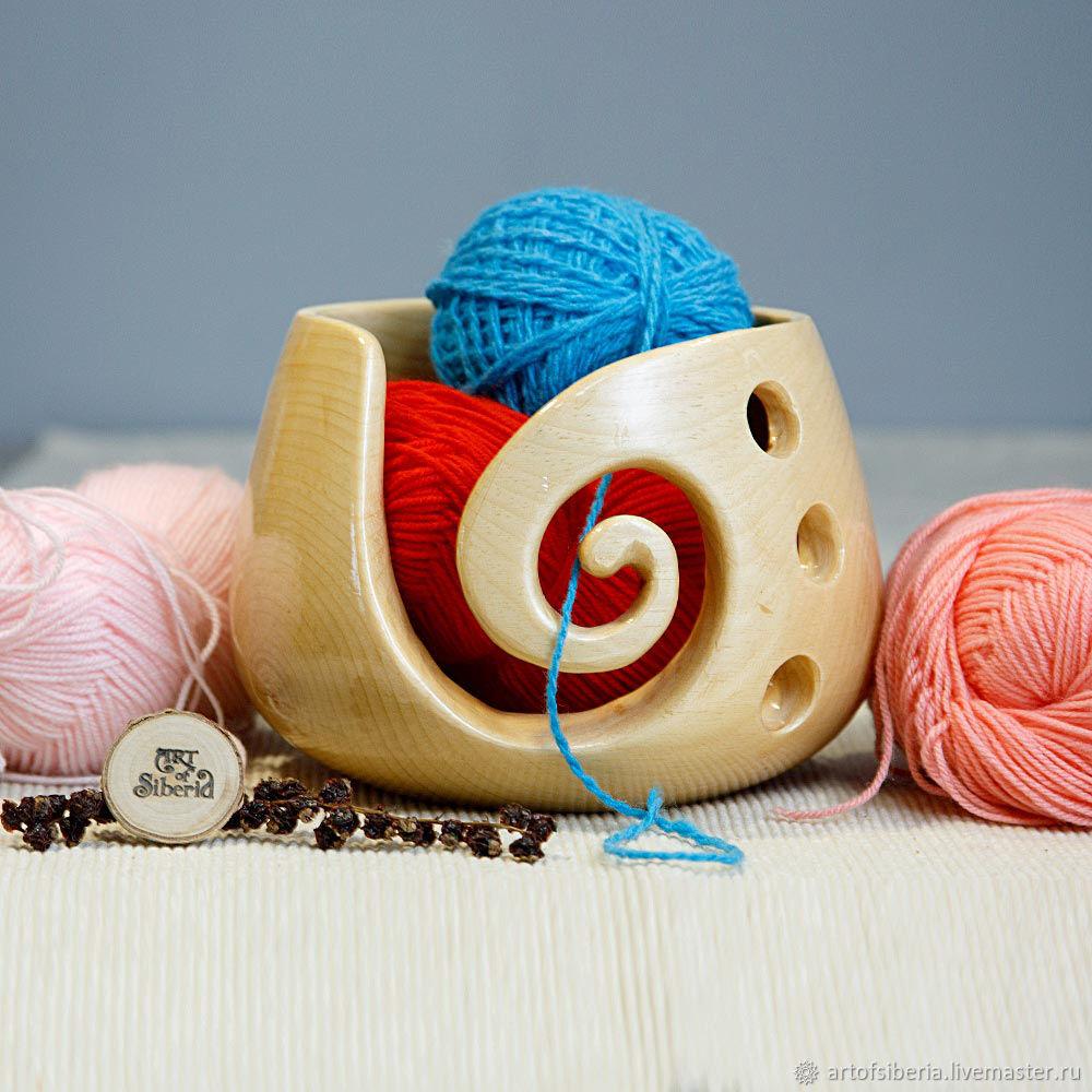 The Average lubochnia wood Siberian pine for yarn knitting #KL13, Knitting tools, Novokuznetsk,  Фото №1