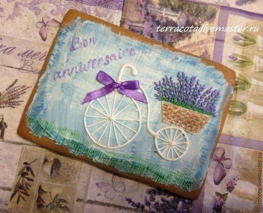 Кулинарные сувениры ручной работы. Ярмарка Мастеров - ручная работа. Купить Велосипед с лавандой. Handmade. Сиреневый, подарок на день рождения