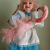 Куклы и игрушки handmade. Livemaster - original item Alice with Flamingo. Handmade.