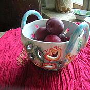 """Конфетницы ручной работы. Ярмарка Мастеров - ручная работа Berry Bowl """"Вышивка"""". Handmade."""