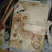 Канцелярские товары ручной работы. Ярмарка Мастеров - ручная работа Блокнот для белошвейки. Handmade.