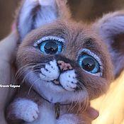 "Куклы и игрушки handmade. Livemaster - original item Авторская валяная игрушка рысёнок ""Крошка"". Handmade."