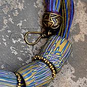 Украшения ручной работы. Ярмарка Мастеров - ручная работа колье из полимерной глины  Неон. Handmade.
