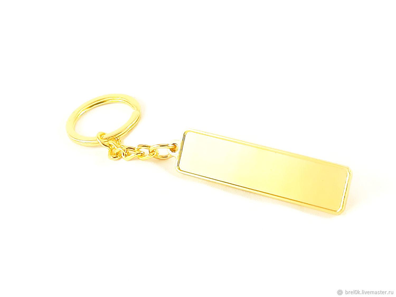 Брелок с бортиком «под золото»