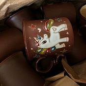 handmade. Livemaster - original item Ceramic mug handmade: Unicorn. Handmade.