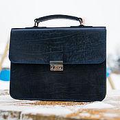 Сумки и аксессуары handmade. Livemaster - original item Portfolio blue, business.. Handmade.