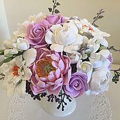 Цветы и флористика handmade. Livemaster - original item Flower arrangement with peonies and dahlias. Handmade.