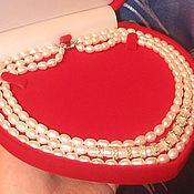 Свадебный салон handmade. Livemaster - original item beads pearls in three rows. Handmade.