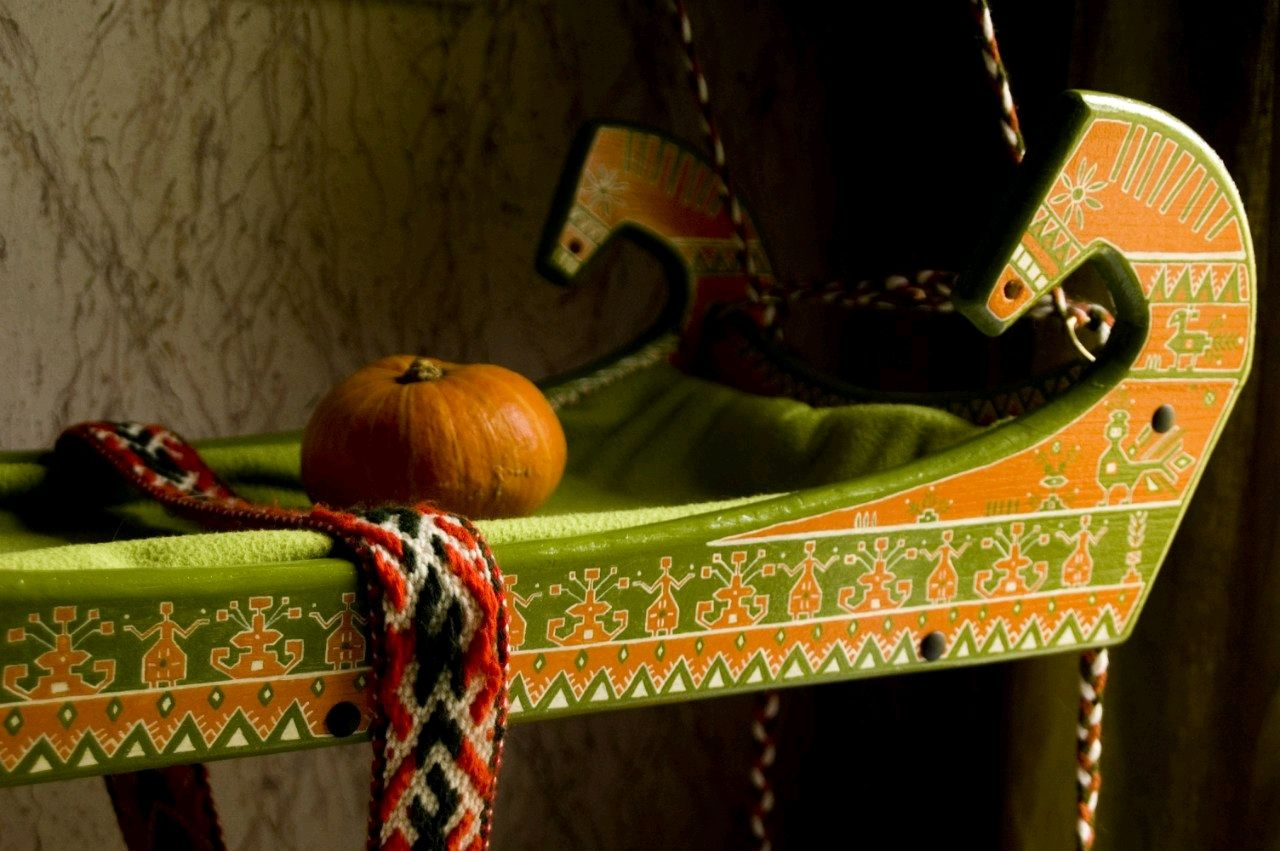 Детская люлька ручной работы с авторской росписью, Мебель для детской, Санкт-Петербург,  Фото №1