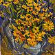 Картины цветов ручной работы. Ярмарка Мастеров - ручная работа. Купить Желтые цветы. Handmade. Цветы, ромашки, желтые цветы