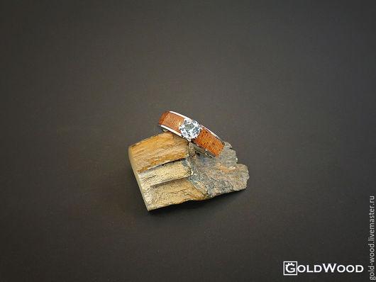 """Кольца ручной работы. Ярмарка Мастеров - ручная работа. Купить Кольцо """"Linewood""""  Лаосский палисандр + топаз. Handmade. Разноцветный"""