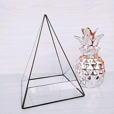 """Для дома и интерьера ручной работы. Ярмарка Мастеров - ручная работа Флорариум """"Пирамида"""". Handmade."""