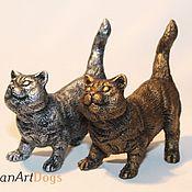 Для дома и интерьера ручной работы. Ярмарка Мастеров - ручная работа БРИТАНСКАЯ КОШКА - статуэтка (оловянная миниатюрная фигурка кошки). Handmade.