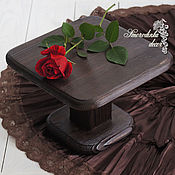 Для дома и интерьера ручной работы. Ярмарка Мастеров - ручная работа Тортовница Wooden Luxury (mini). Handmade.
