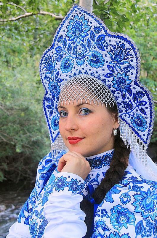 русский народный костюм, танцевальный костюм, народный костюм, сценический костюм, русский народный костюм, гжель, Russian Dance