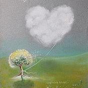 Картины и панно ручной работы. Ярмарка Мастеров - ручная работа Прогулка облака любви. Handmade.